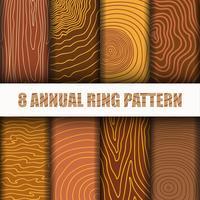 8 Jahresring-Muster-Hintergrund-Satzansammlung