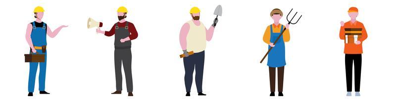 Flat Character of General Contractors set