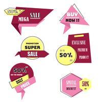 Modern försäljningsetikett och taggkollektion