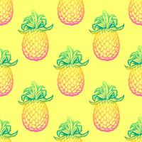 Seamless mönster med ananasvektor