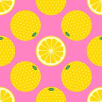 Gelbes Zitrusfrucht-Pop-Art-Muster vektor
