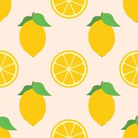 Sömlös bakgrund för nya citroner