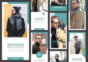 Mode Instagram Story Mall som är klar att använda
