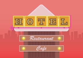Hotell Retro skylt. Restaurang Retro skylt. vektor
