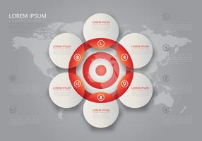 Samarbeta mål Vin-diagrammål Infographic