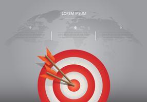 Zielgerichtete kooperieren Ziele Infografik auf der Weltkarte vektor