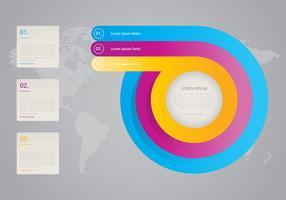 Schritte 1, 2, 3 kooperieren Ziele Infografik vektor