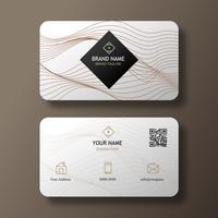 Weiße elegante Visitenkarte