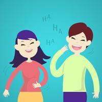 Söta par som skrattar tillsammans