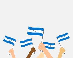 Honduras flaggor vektor
