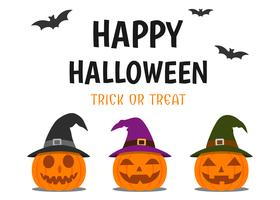 Halloween gratulationskort vektor