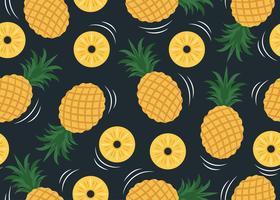 Ananasmönster vektor