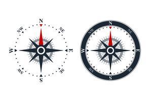 Kompassrosikoner vektor