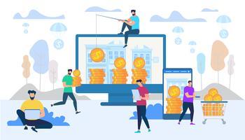 Tjäna och spendera pengar på Internet