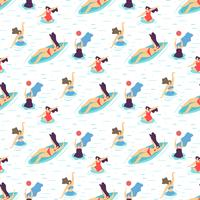 Sommer-Erholungs-Mädchen-Motivations-nahtloses Muster