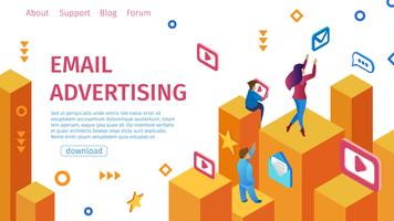 Banner E-Mail-Werbung flach