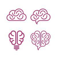 Verschiedene Gehirnikonen vektor