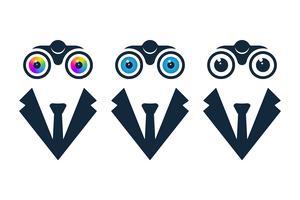 Geschäftsmann Symbole mit dem Fernglas