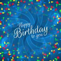 Grattis på födelsedagstext med färgglada konfettier