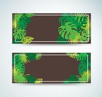 tropische Blätter Vorlage Hintergrund Vektor-Illustration vektor