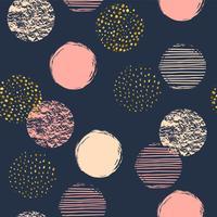 Geometriska sömlösa upprepade mönster med cirklar