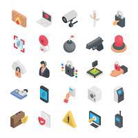Säkerhet platt ikoner vektor