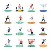 Pack von Sport-Spieler-Icons