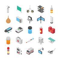 Förpackning med ikoner för medicin och hälsa