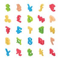 Kreativ representation av valutasymbolsamling