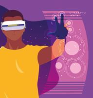 Design des Menschen mit Technologie der Augmented Reality