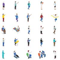 Professionella människor isometriska ikoner