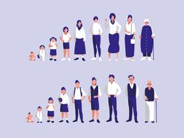 Gruppe von Familienmitgliedern vektor