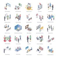 business coaching ikoner set