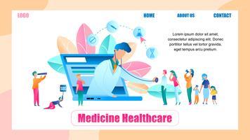 Illustration Online Människor för läkareundersökning vektor