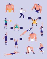 män som utövar sport vektor