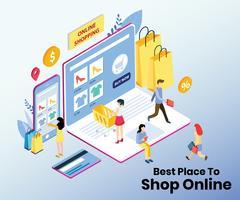 Digitales Einkaufs- und Smartphone-Zahlungssystem
