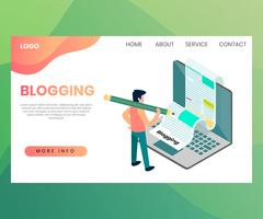 Blogging-Webseite vektor