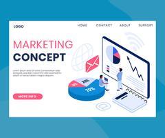 Isometrisk marknadsföringswebbplats