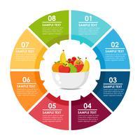 Früchte runden Infografik vektor