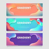 abstrakte Flüssigkeit Banner Pack