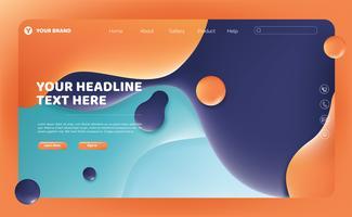Abstraktes flüssiges Landing Page Design vektor