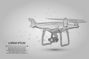 Weißer polygonaler Quadrocopter