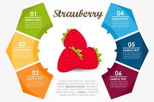 Erdbeer Runde Infografik vektor