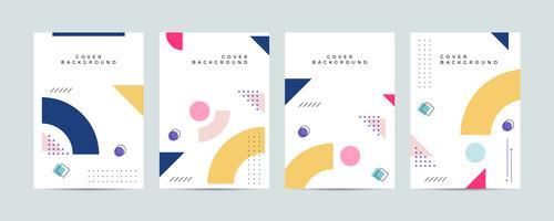 memphis stil omslag design