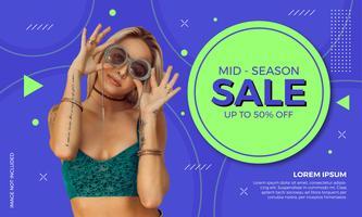 Modern försäljning Banner Fashion Design