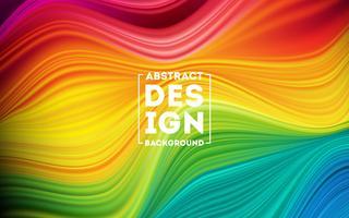 Modern färgglad flödesaffisch vektor