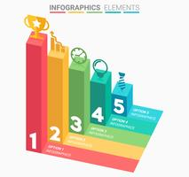 INFOGRAPHICS Business Staircase-Element entwerfen die Nummer vektor