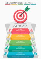 INFOGRAPHICS Business Target Design vektor