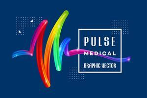 Bunter medizinischer Impuls vektor