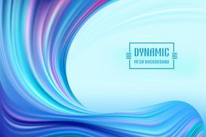 Dynamischer Wave Mesh Flow vektor